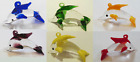 Murano Floating Glass Coloured Dolphins with Bubbles - Pack of 6 Glass Dolphins!