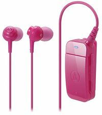Audio-technica ATH-BT09 Bluetooth V2.1 Clip-on In-Ear Headset w/ Microphone Pink