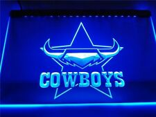 North QLD Cowboys LED Neon Sign Flag Large NRL Rrp $79.95