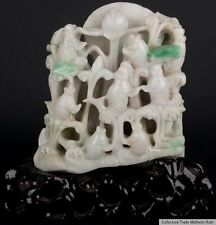 China 19./20. Jh. Jade - A Chinese carved jadeite Group - Chinois Giada Cinese