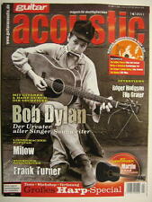 GUITAR ACOUSTIC MAGAZIN 4/2011 - BOB DYLAN MILOW FRANK TURNER HOOTERS INCL. CD