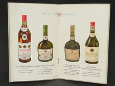 Vtg Courvoisier Cognac Brandy of Napoleon Liquor Litho Brochure Book Ephemera