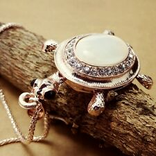 Fashion Gold Plated Sea turtle Pendant Crystal mosaic Long Necklac  EE145