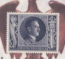 1943 Nazi Germany 3rd Third Reich Hitler birthday stamp BLUE MNH