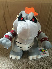 Super Mario Plush Teddy - Dry Bowser Soft Toy - Size: 28cm - NEW FREE POSTAGE