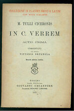 M. TULLIO CICERONIS IN C. VERREM CHIANTORE 1926 CLASSICI GRECI E LATINI