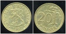 FINLANDE 20 pennia 1987