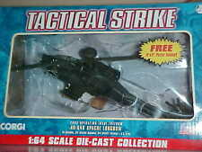 Corgi Tactical Strike Diecast AH-64D Apache Longbow Helicopter 1:64 NRFB