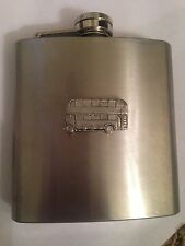 Bus PP-T09 english pewter 6oz Stainless Steel Hip Flask