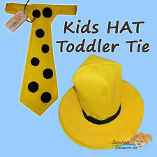 BOYS HAT & TODDLER TIE Man in the yellow HAT Curious George Halloween costume