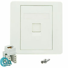 RJ45 Network LAN Cat6 1 Port Faceplate Single Gang Wall Socket & Keystone Jack