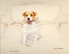 JACK RUSSELL TERRIER JRT DOG LIMITED EDITION PRINT - Signed Artist Proof # 15/85