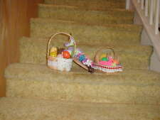 Easter Baskets Filled with Plastic Eggs and Finger Puppets