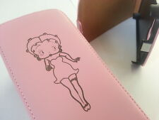 SAMSUNG Galaxy S4 i9500 BETTY BOOP PELLE ROSA FLIP PHONE Custodia COVER PELLE