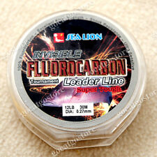 NEW Sea Lion 100% Made in Japan Fluorocarbon Leader Fishing Line 12LB 30M