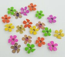 Scrapbooking Eyelets Groovy Flowers Set of 20 Stamping Crafts 5 Bright Colors