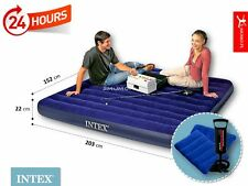 INTEX INFLATABLE QUEEN SIZE CLASSIC DOUBLE AIR BED WITH INTEX HANDPUMP & 2PILLOW