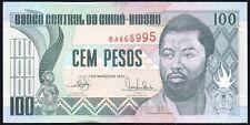1990 GUINEA-BISSAU 100 PESOS BANKNOTE * aUNC * P-11 *