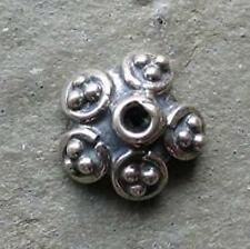 Bali Sterling Silver Ornate Bead Cap 8mm x 4mm
