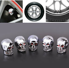 5Pc Skull Tire Tyre Wheel Car Auto Caps Valves Dust Stem Cover Bicycle Motocycle