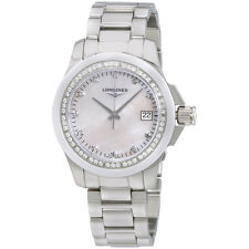Longines Conquest MOP Diamond Dial Stainless Steel Ladies Watch L32810876