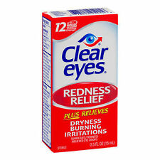 6 Pack - Clear eyes Redness Relief Eye Drops .5 fl oz (15 ml) Each