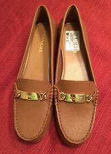 Coach Olive Pebble Grain Women's Shoes Size 9.5 Leather Loafer Flat Saddle New