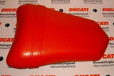 2003-2007 Ducati 749 999 Biposto RED passenger pillion seat complete assembly