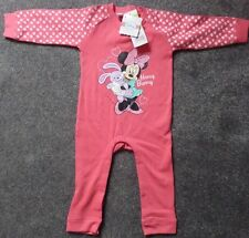 Girls Disney Baby Minnie Mouse Toddler/Baby Sleepsuit Pink - 18 Months BNWT