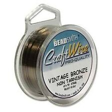 Craft Wire 22gauge (0.64mm) Vintage Bronze Beadsmith Pro Quality Non Tarnish