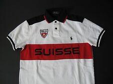 """POLO RALPH LAUREN Men's Custom-Fit Snow Polo """"Suisse"""" Mesh Shirt S"""