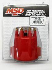MSD 84335 RED Distributor Cap & Rotor Kit w/ Wire Retainer for Chevy V8 HEI