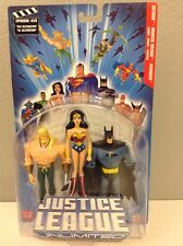 Mattel DC Justice League Unlimited JLU 3 pack AQUAMAN BATMAN WONDER WOMAN 05