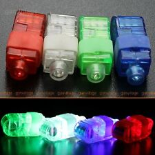 100 COLOR LED Finger flash light Beams Ring Torch party