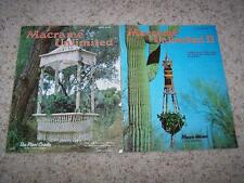 Lot of 2 MACRAME UNLIMITED 1970's Vintage Macrame Pattern Books 1 & 2