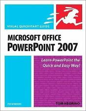 Microsoft Office PowerPoint 2007 for Windows Negrino, Tom Paperback