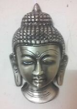Brass Buddha Head Mask Statue Buddhism Thai Ornament Wall Hanging Figurine New