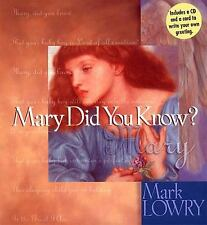 Christmas: Mary Did You Know? by Mark Lowry (1998, Hardcover) W/ Cd