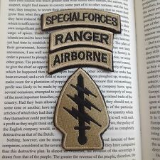 Special Forces & Airborne &Ranger Tabs Embroidered Hook& Loop PATCH/TAN