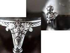 Antique Silver Plate Covered Butter Dish Figural Face Woman Head Aesthetic1887