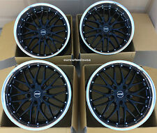 "18"" MRR GT1 Black Wheels For BMW F32 420i 428i 18-Inch Staggered Rims Set of (4)"
