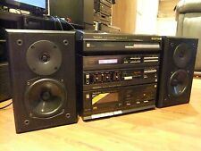 TECHNICS HIFI LINEAR TRACKING TURNTABLE SL J1 SA-30L RS X20 ELTAX MONITORS NICE!