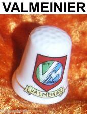Fingerhut Porzellan Sammler selten thimble dé Valmeinier Souvenir Wappen Dedal