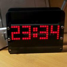 DS3231 Dot Matrix LED Clock Kit Electronic Digital Alarm Clock Temp Display 6S5Y
