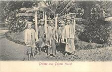 GRUSS AUS GAROET GARUT JAVA INDONESIA CHILDREN MUSCIAL INSTRUMENTS POSTCARD