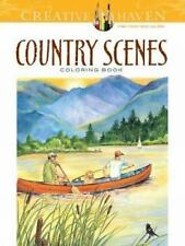 Country Scenes Coloring Book Adult Dover Nature fun-filled relaxing reduce