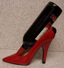 Wine Bottle Holder and/or Decorative Sculpture Party Shoe Red High Heel NIB
