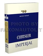 1968 Chrysler Shop Manual 300 New Yorker Newport LeBaron Imperial Repair Service