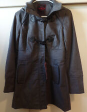 Yoki New York NWT size Small charcoal gray toggle coat with removeable hood