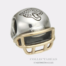 Authentic Pandora Silver 14K Jacksonville Jaguars Football Helmet USB790570-G115